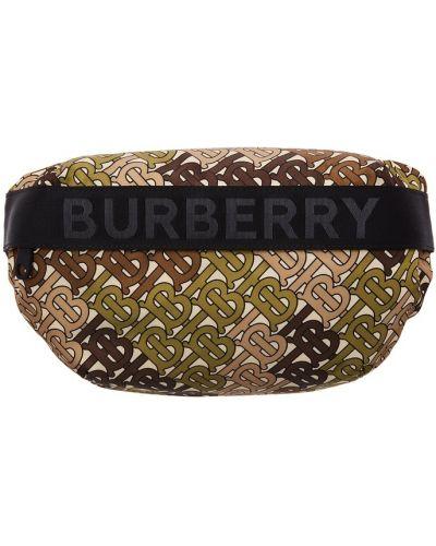 Поясная сумка с надписью черная Burberry