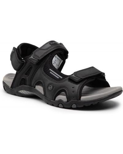Czarne sandały na lato Halti