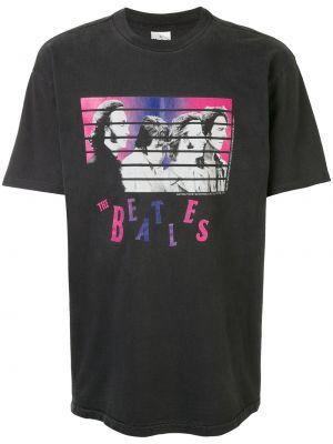 Koszula krótkie z krótkim rękawem prosto z nadrukiem Fake Alpha Vintage