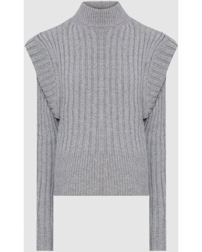 Шерстяной свитер - серый David Koma