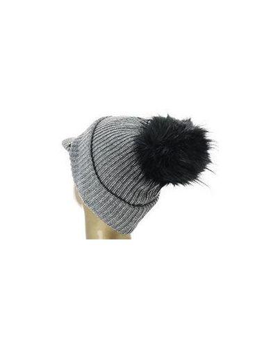 Серая шапка шерстяная Patrizia Pepe