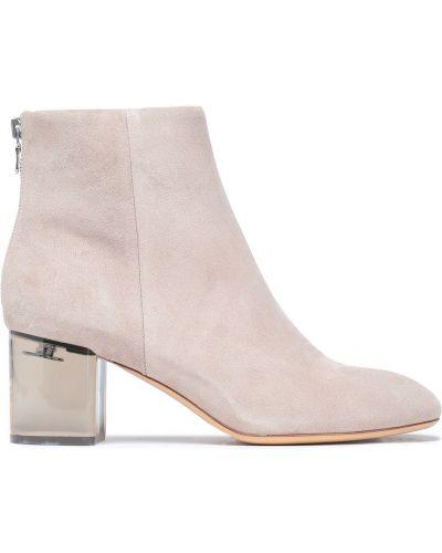 Ankle boots zamszowe na obcasie pastelowe Rag & Bone