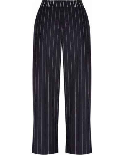 Черные свободные брюки с карманами свободного кроя на крючках Hugo Boss