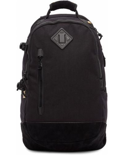 Czarny plecak na laptopa zamszowy na rzepy Visvim