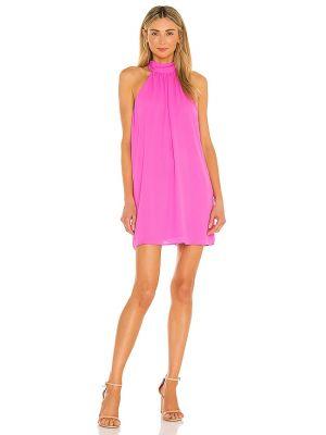Розовое коктейльное платье с подкладкой с оборками Krisa