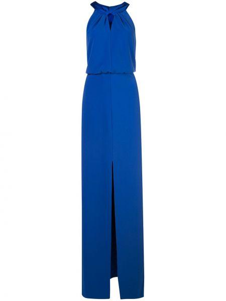Синее платье на молнии с вырезом Halston Heritage