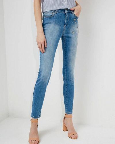 Голубые джинсы-скинни Twin-set Simona Barbieri