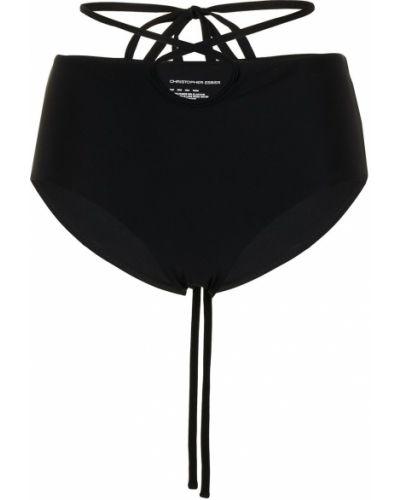 Черные плавки бикини с высокой посадкой с завязками Christopher Esber