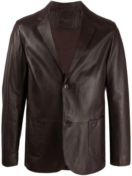 Темно-коричневый пиджак с карманами с заплатками с лацканами Desa 1972