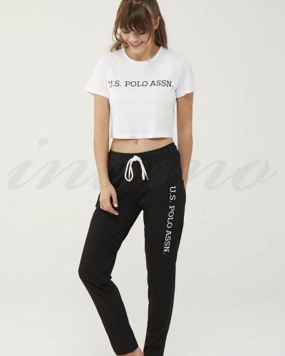 Черный брючный комбинезон U.s. Polo
