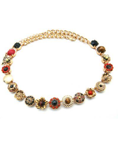 Красное ожерелье с камнями Amaro