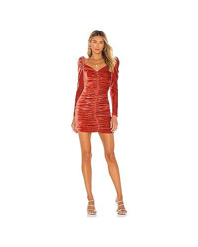 Платье вельветовое на молнии со складками Minkpink