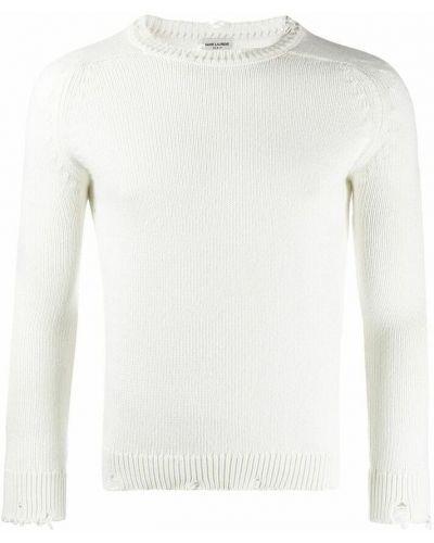 Sweter - biały Saint Laurent