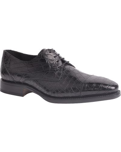 Черные туфли из крокодила Pakerson