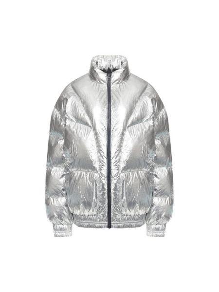 Теплая серебряная утепленная куртка на молнии с манжетами Isabel Marant Étoile