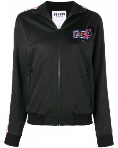 Черная куртка с манжетами Versus