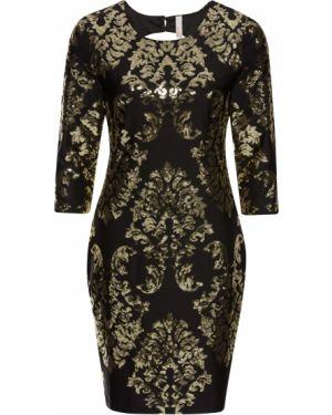 Вечернее платье с пайетками с вырезом Bonprix