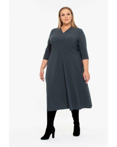 Повседневное платье осеннее серое Intikoma
