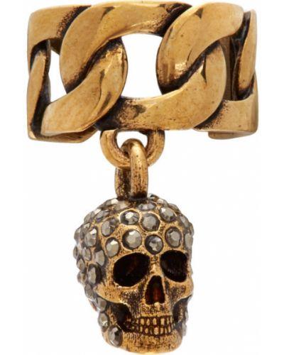 Złoty kolczyki ze złota Alexander Mcqueen