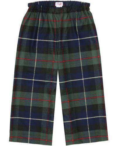 Klasyczne zielone spodnie klasyczne z wiskozy Il Gufo