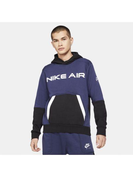 Niebieski pulower z kapturem na co dzień Nike
