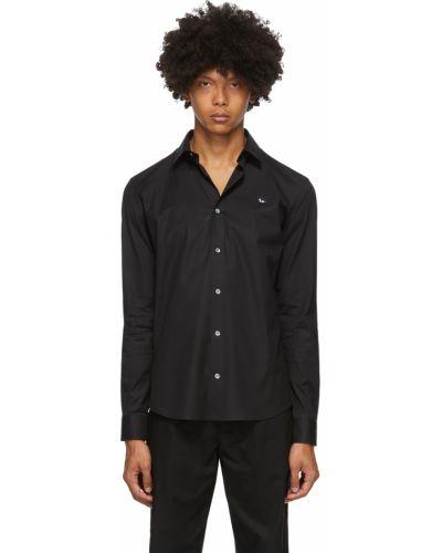 Koszula z haftem - czarna Mcq Alexander Mcqueen