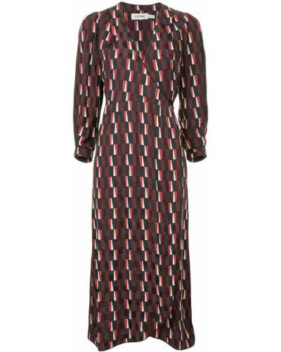 Облегающее платье с запахом свободного кроя Cefinn