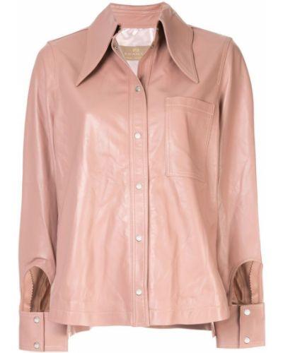 Розовая рубашка на кнопках с разрезом Ecaille