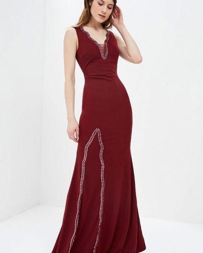 Вечернее платье весеннее красный Soky & Soka