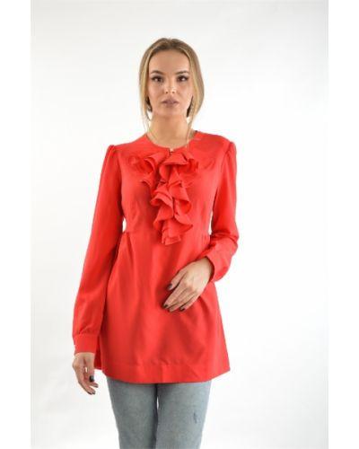 Блузка из вискозы красная Audrey Right