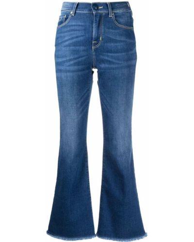 Синие джинсы с высокой посадкой на молнии Jacob Cohen