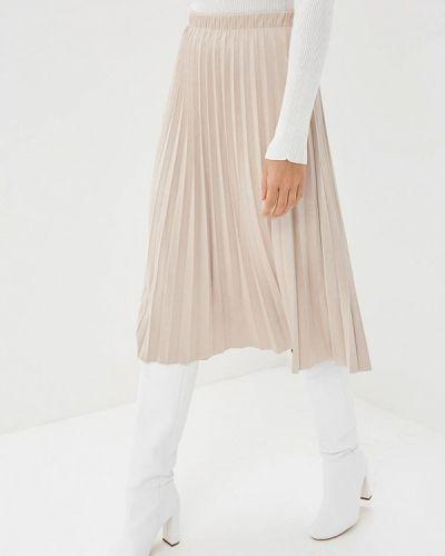 Плиссированная юбка бежевый Zarina