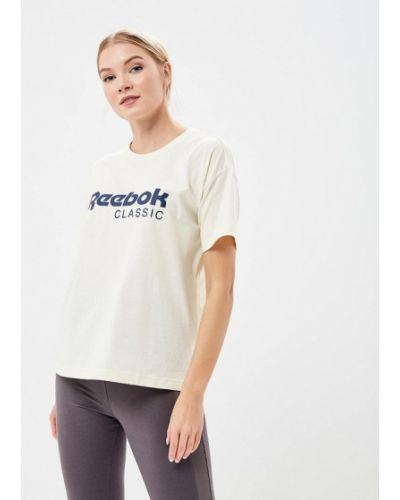 Бежевая футболка Reebok Classics