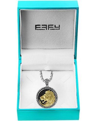 Золотистый серебряный медальон c сапфиром Effy
