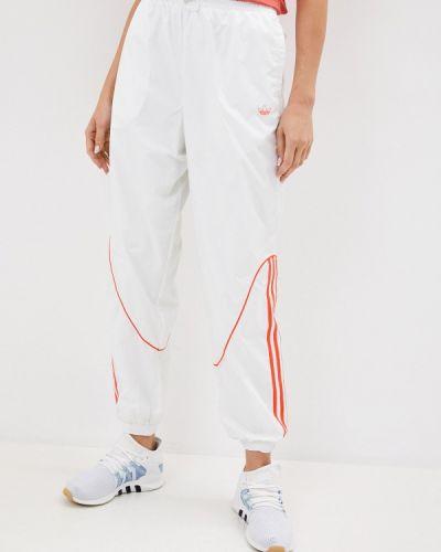 Спортивные белые спортивные брюки Adidas Originals