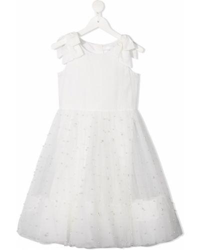 Biała sukienka tiulowa bez rękawów Charabia