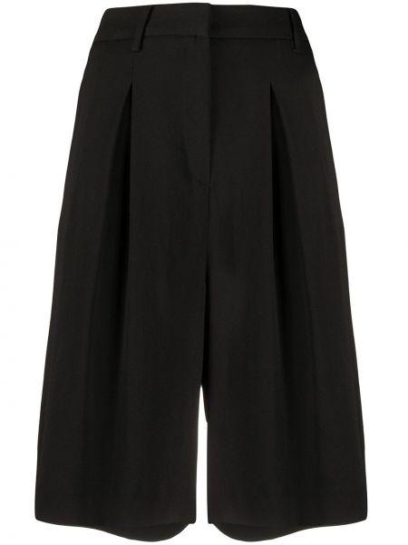 Прямые черные шорты с карманами L'autre Chose