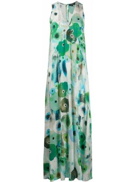 Платье с цветочным принтом с V-образным вырезом Antonelli