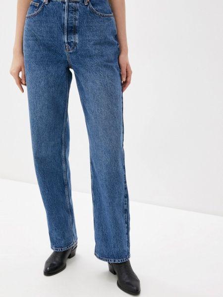 Широкие джинсы расклешенные синие Topshop