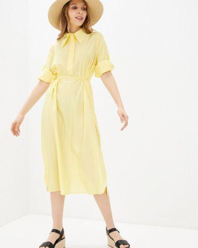 Желтое платье-рубашка W.sharvel