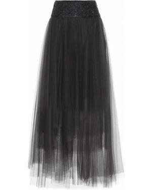 Юбка макси из фатина юбка-колокол Brunello Cucinelli