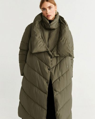 Зимняя куртка осенняя утепленная Mango