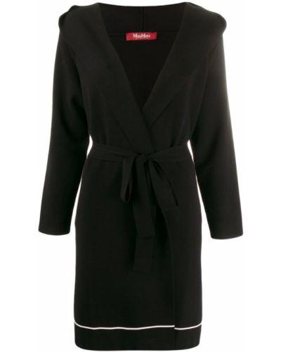 Пальто с капюшоном с поясом двубортное Max Mara Studio