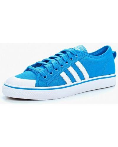 Синие кеды Adidas Originals