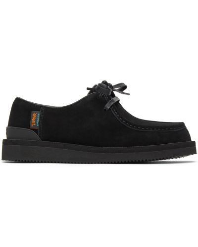 Черные кожаные туфли Suicoke