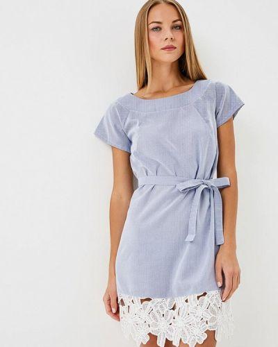 Платье весеннее синее Gepur