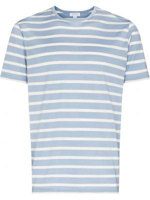 Синяя футболка короткая Sunspel