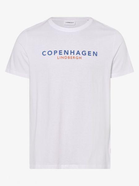 Biała koszulka z printem Lindbergh
