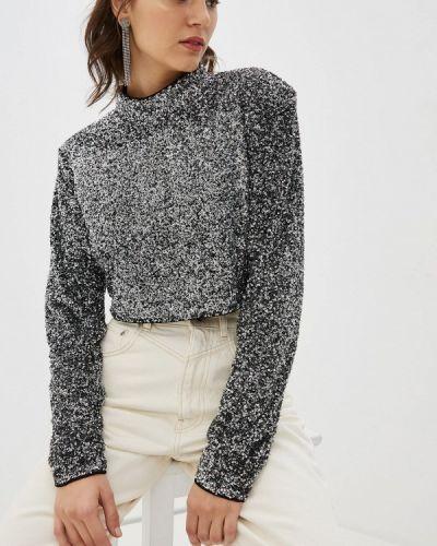 Серебряная с рукавами блузка Pepe Jeans
