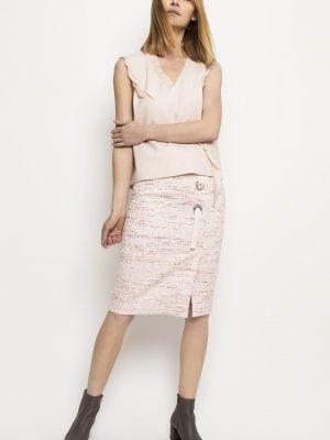 Różowa spódnica srebrna Deni Cler Milano